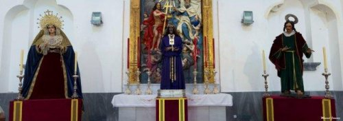 Nuestros Titulares en el Torreón del Sagrario con motivo de la restauración del Retablo de Nuestro Titular Autor: Manuel David Jiménez Armario.
